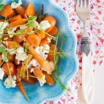 Geroosterde worteltjes met geitenkaas | simoneskitchen.nl