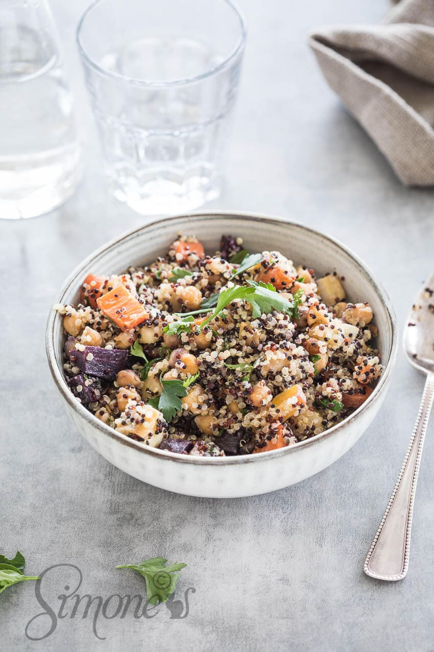Quinoa met geroosterde wortels   simoneskitchen.nl