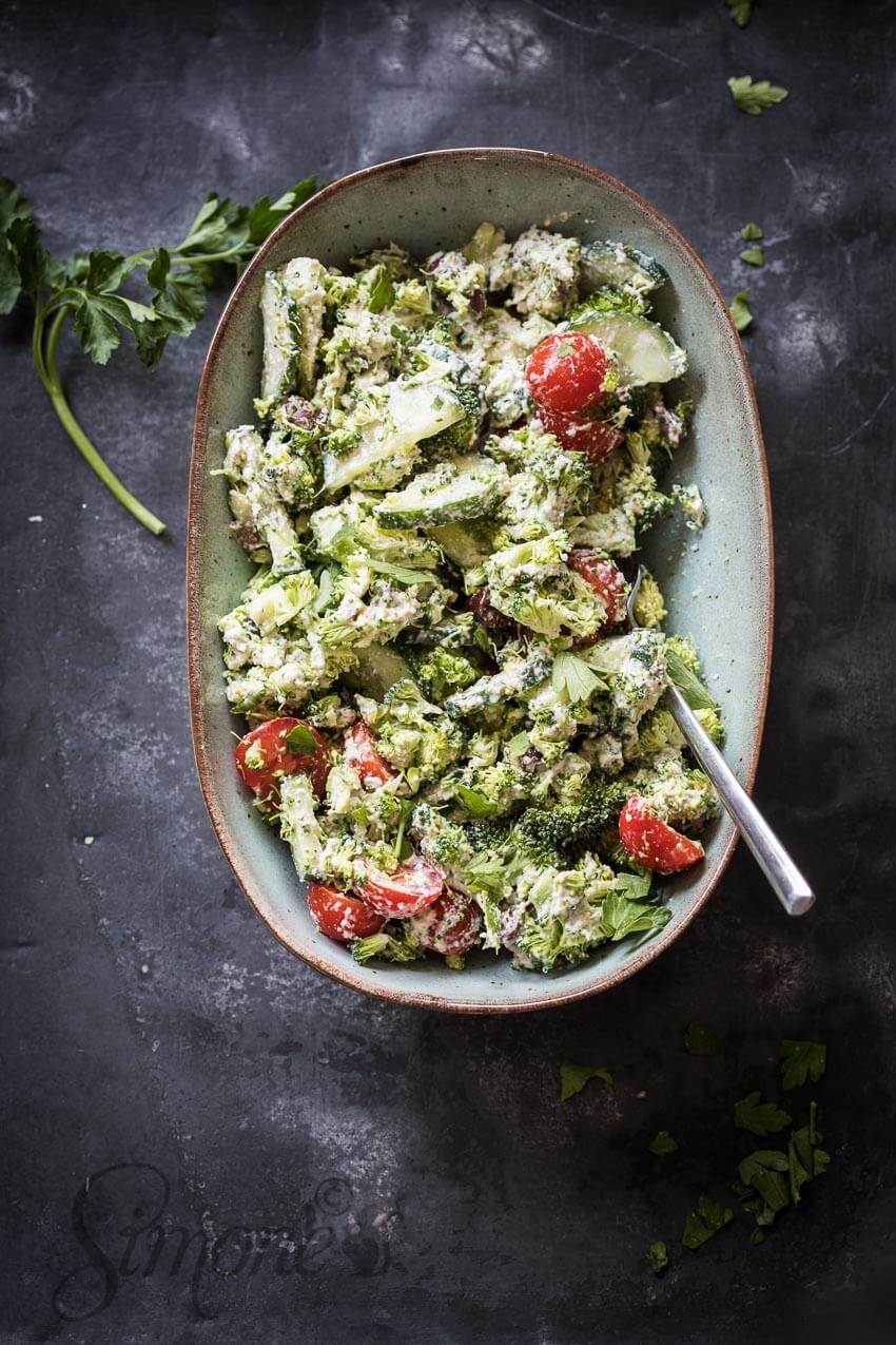 Griekse broccolisalade | simoneskitchen.nl