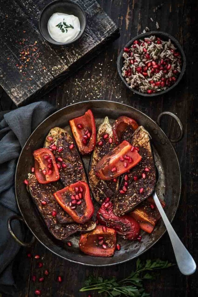 Geroosterde aubergine met specerijen | simoneskitchen.nl