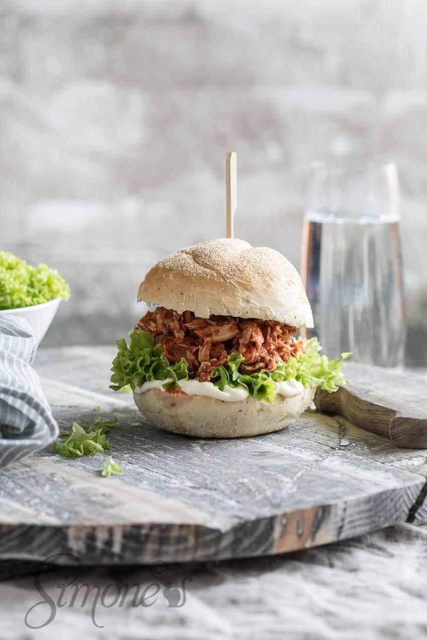 Pulled chicken sandwich | simoneskitchen.nl