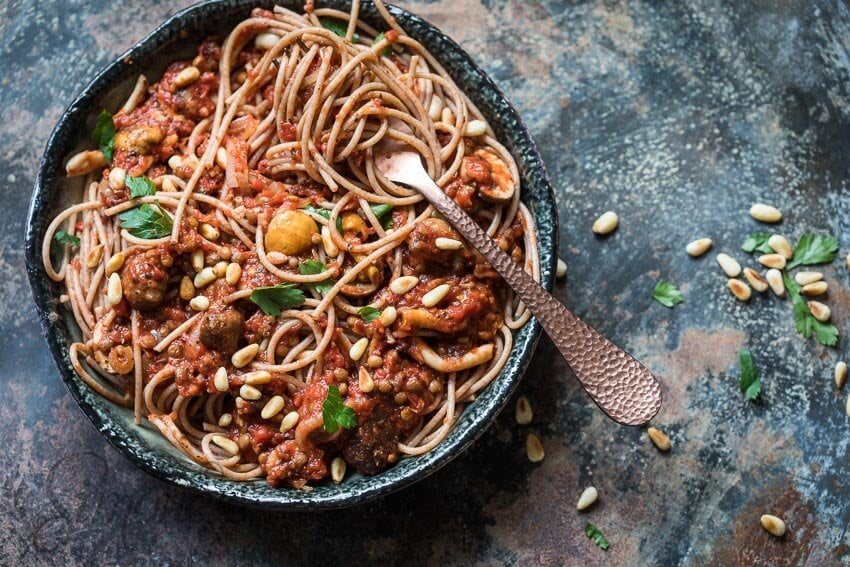 Plantaardige spaghetti bolognese   simoneskitchen.nl