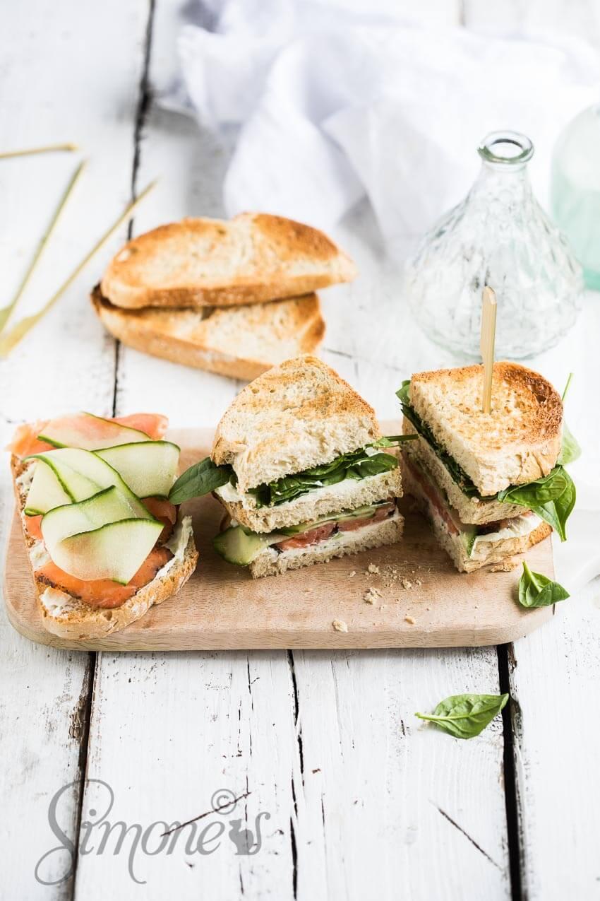 Club sandwich met zalm | simoneskitchen.nl