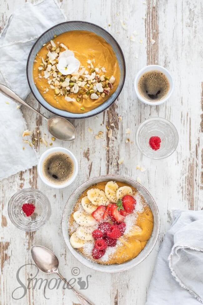 Zoete aardappel ontbijtbowl | simoneskitchen.nl