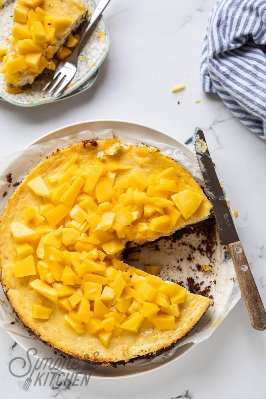 De lekkerste mango cheesecake