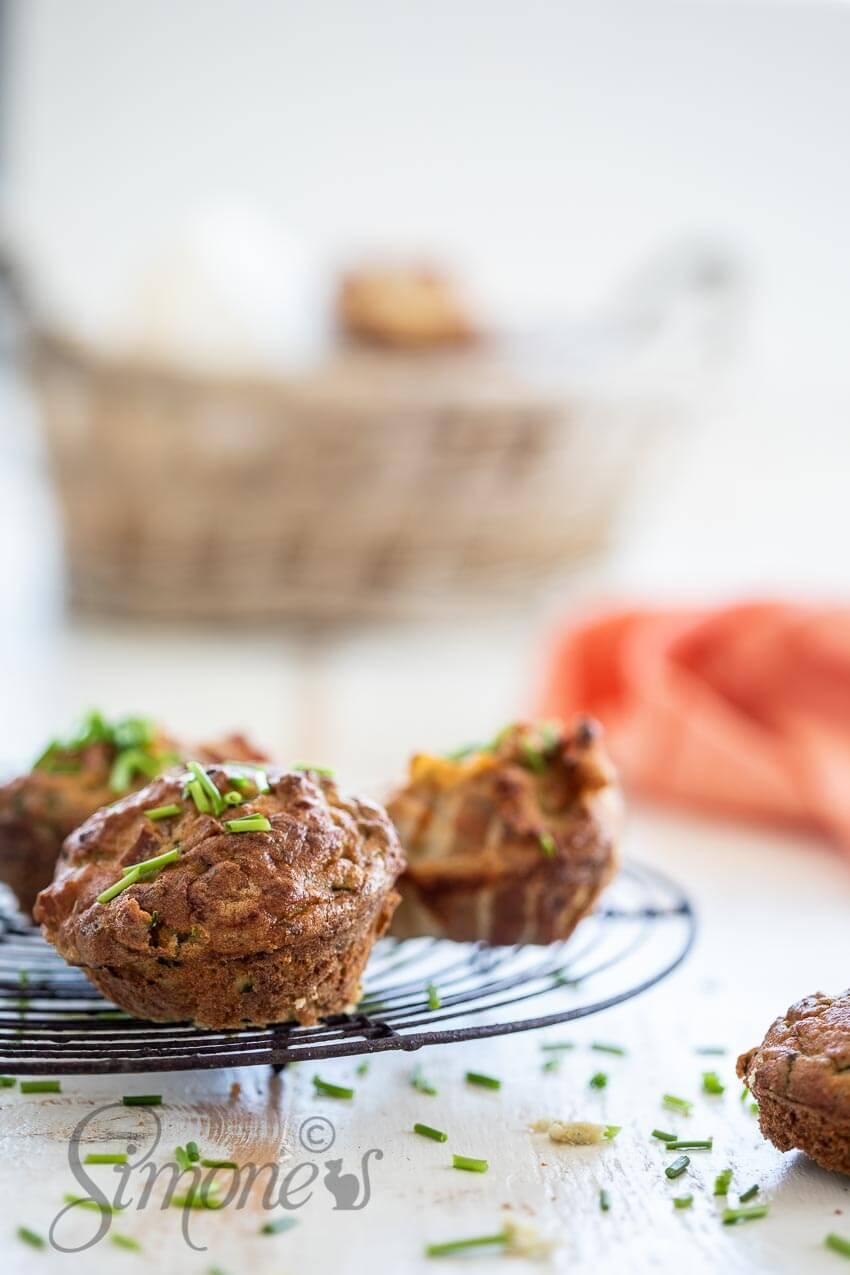 Hartige bacon courgette muffin | simoneskitchen.nl