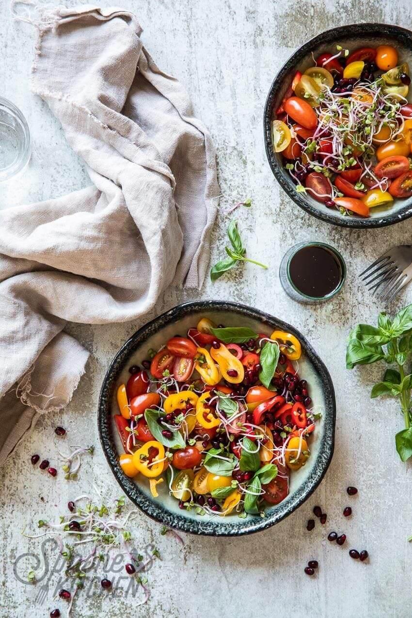 Heerlijke tomaten paprikasalade