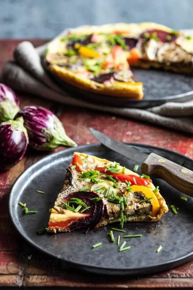 Fritatta met geroosterde groenten | simoneskitchen.nl
