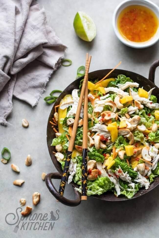 Thaise salade met Chinese kool | simoneskitchen.nl