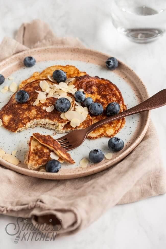 Supersnelle pannenkoekjes met slechts twee ingredienten