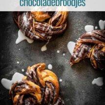 Supersnelle chocoladebroodjes