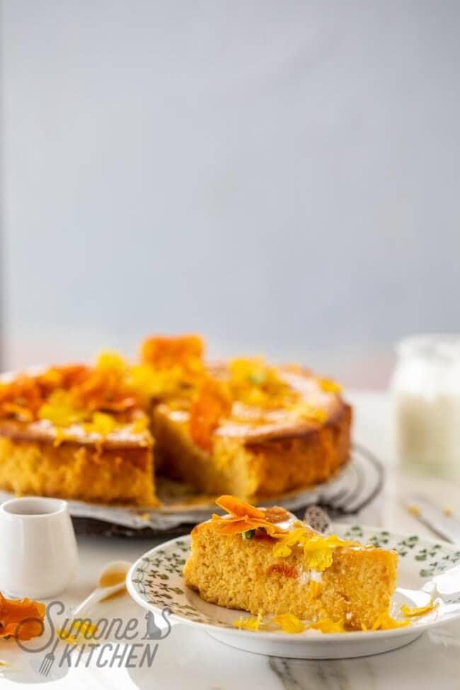 Sinaasappel-amandel cake met yoghurt
