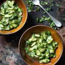 Lekker frisse thaise komkommersalade