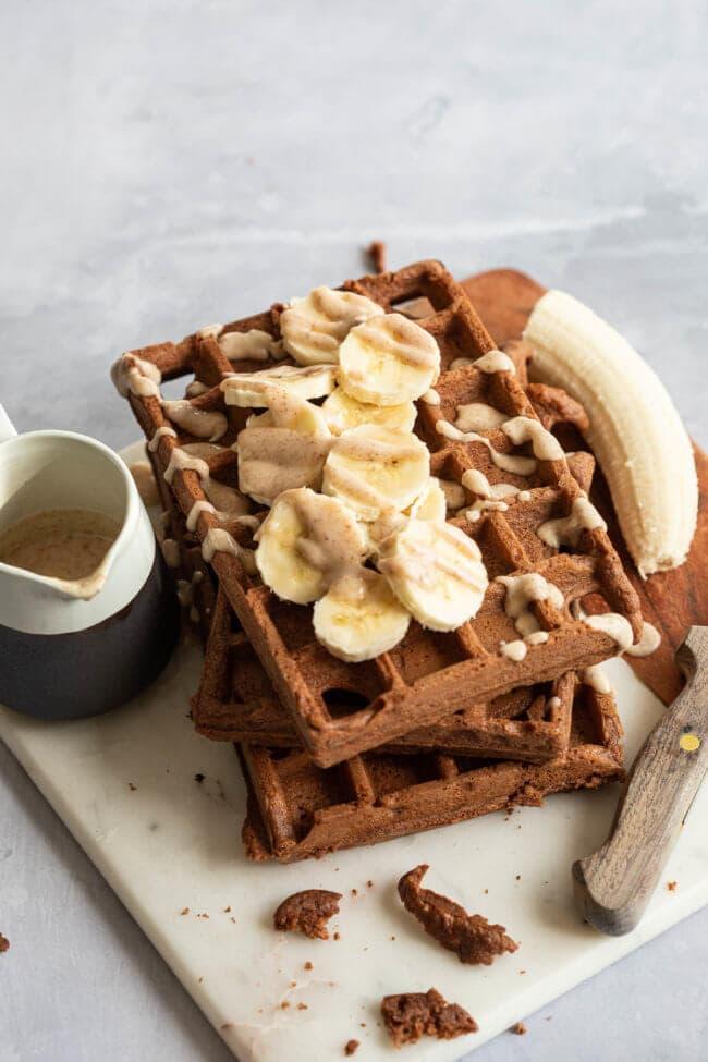 wafel recepten amandel chocoladewafel