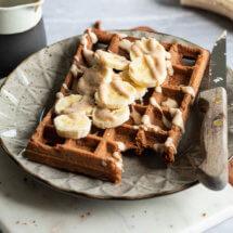 Glutenvrije amandel chocolade wafels