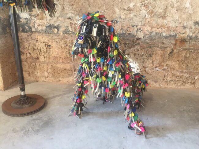Hond van sleutels
