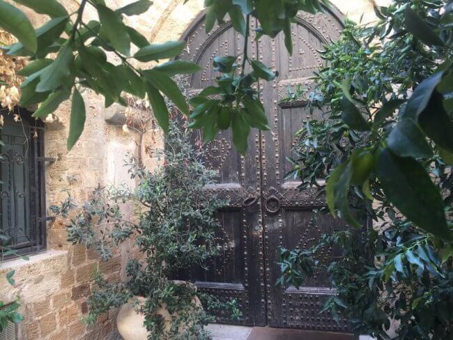 Oude deur in Tel Aviv