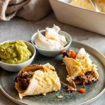 Heerlijke enchiladas met stoofvlees