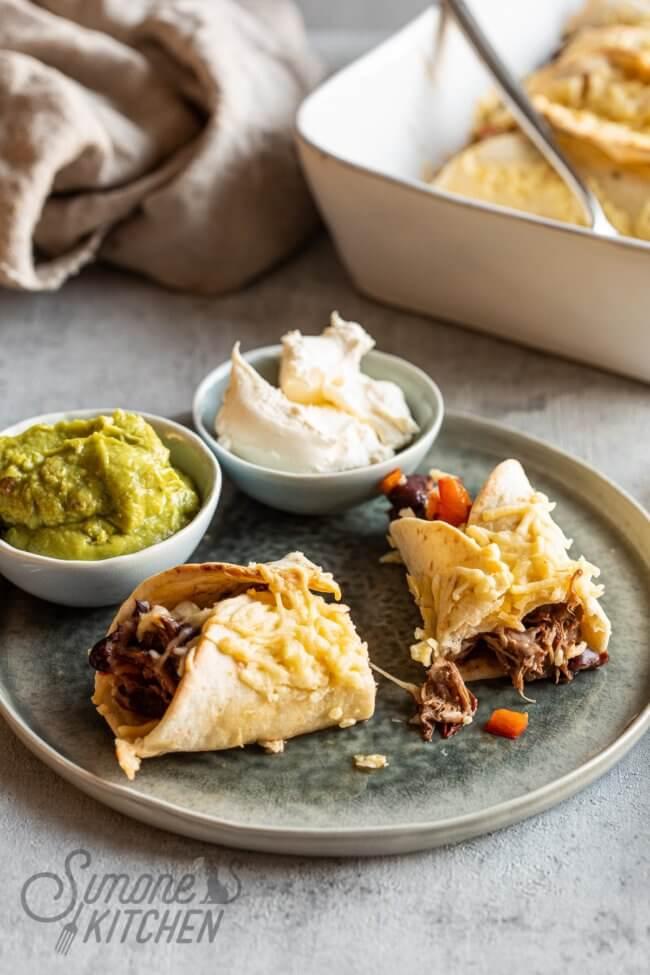 Dudefood: enchiladas met slowcooked rundvlees