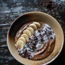 Chocolade koffie smoothiebowl - heerlijk paleo ontbijt