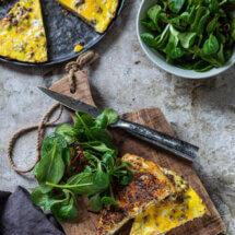 Gehakt wortel omelet