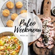 Paleo weekmenu voor week 26