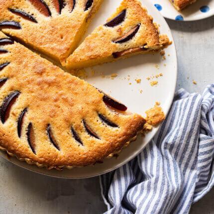 Pruimen frangipane taart