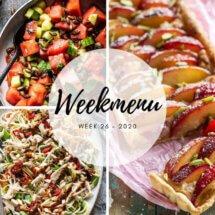 Weekmenu voor week 26