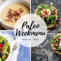 Paleo weekmenu voor week 28