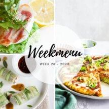 Weekmenu voor week 28