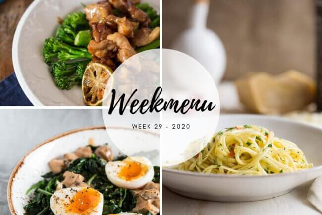 Weekmenu week 29 2020