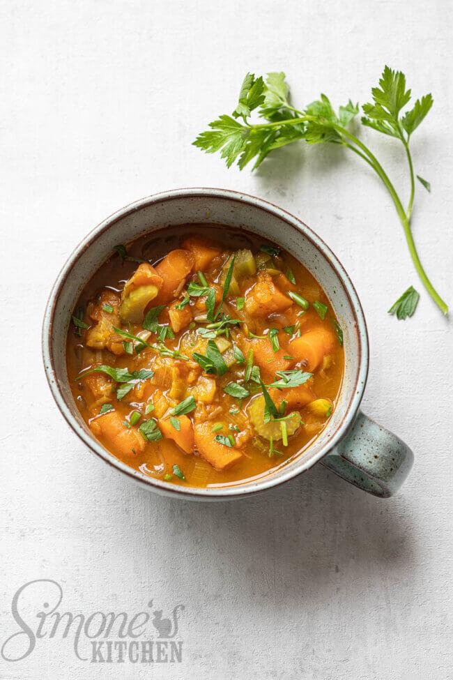 Gevulde groentesoep