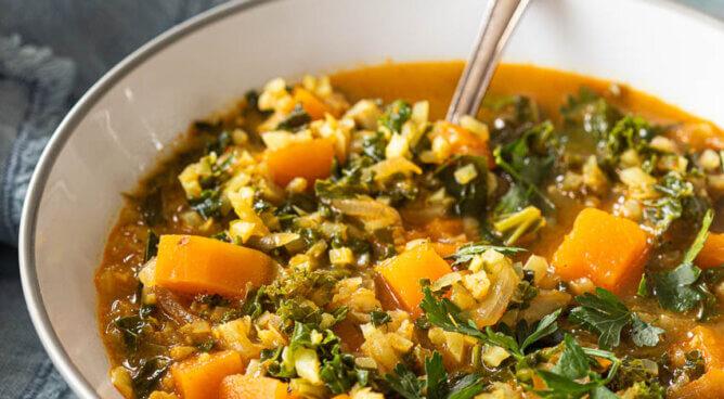 Bloemkool currysoep