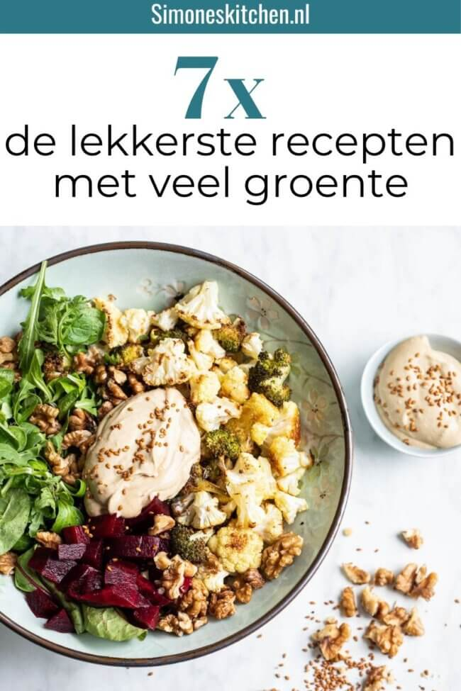 Recepten met veel groente