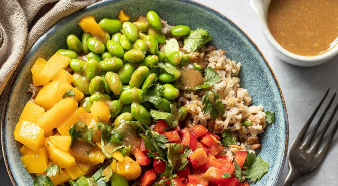 Rijstsalade met tahini