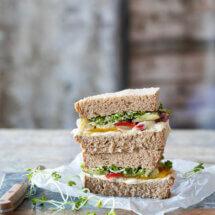 Sandwich met gegrilde groente