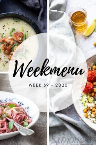 weekmenu voor week 39