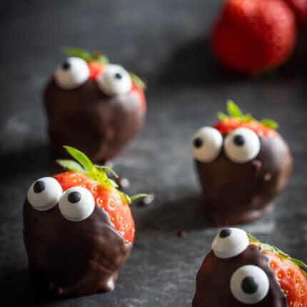 Halloween aardbeien