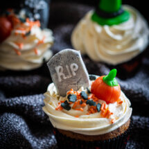 Halloween pompoen cupcakes