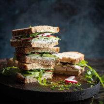 Komkommer sandwiches