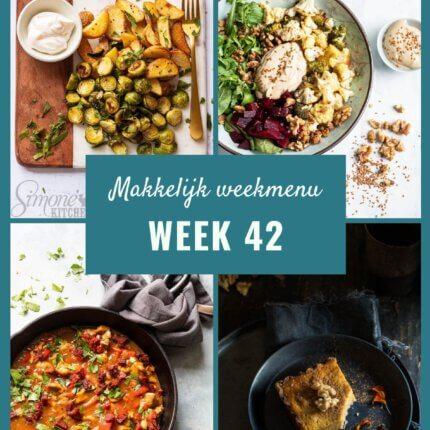 Makkelijk weekmenu voor week 42