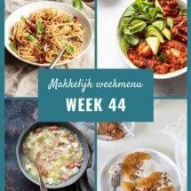 makkelijk weekmenu voor week 44