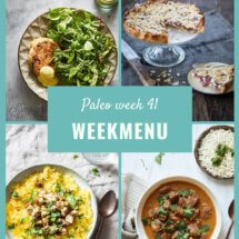 Paleo weekmenu week 41