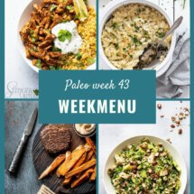Paleo weekmenu week 43
