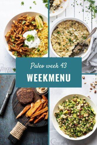 Paleo weekmenu week 43