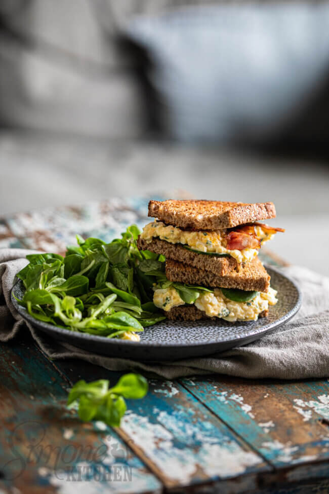 Sandwich met eiersalade