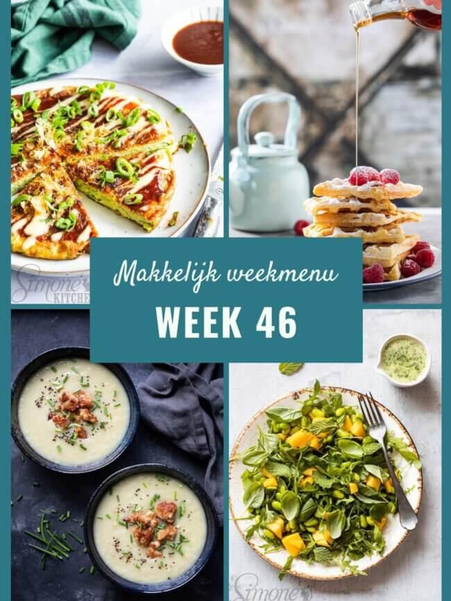 makkelijk weekmenu voor week 46