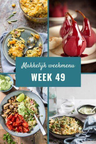 Makkelijk weekmenu voor week 49