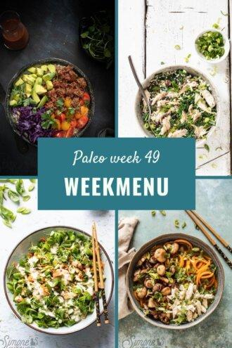 paleo weekmenu voor week 49