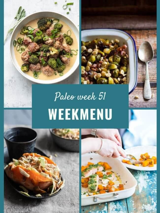 paleo weekmenu week 51